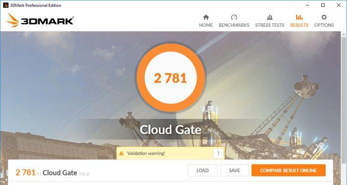 HP 14-BW017AU Tes 3DMark CloudGate