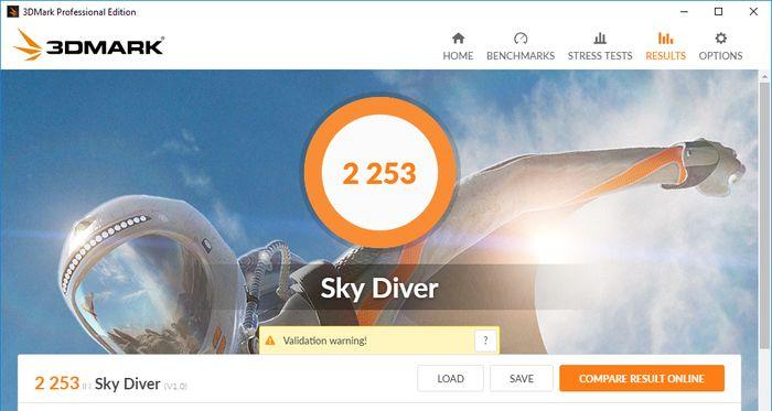 HP 14-BW017AU Tes 3DMark SkyDiver
