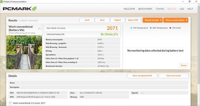 HP 14-BW017AU Tes Baterai