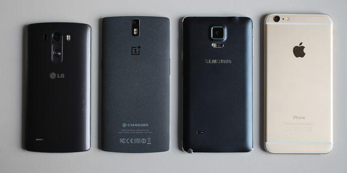 Material Smartphone Header