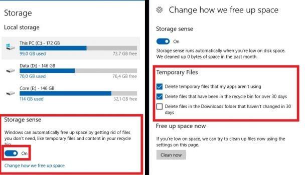 Menghapus Cache secara Otomatis di Windows 10