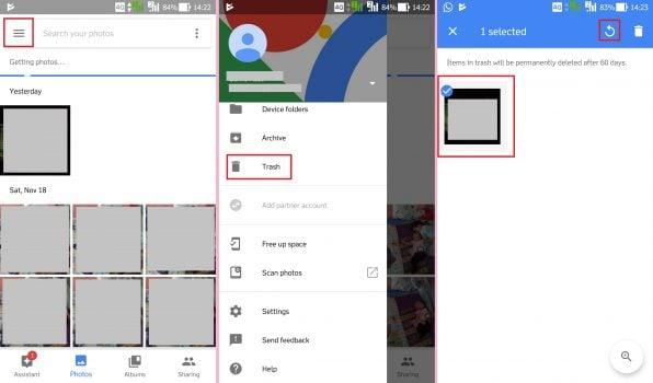 Mengembalikan Foto Terhapus di HP Android dengan Google Photos