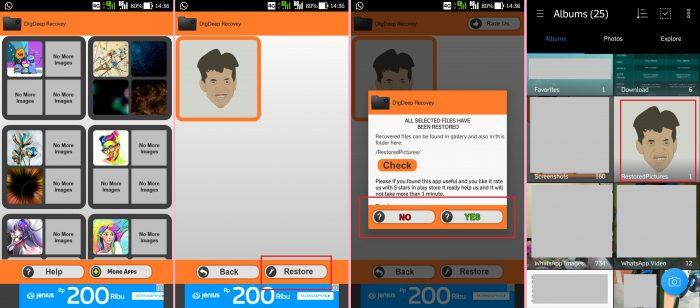 Mengembalikan Foto Terhapus di HP Android dengan DigDeep
