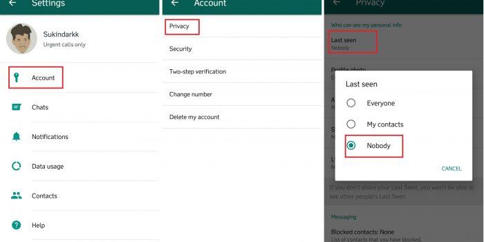 Fitur Rahasia WhatsApp -Nonaktifkan Last Seen