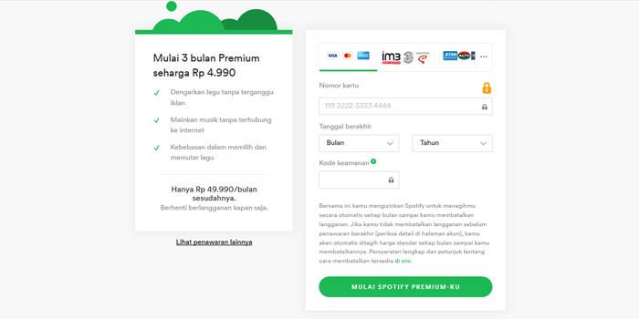 Spotify 5 ribu Premium daftar