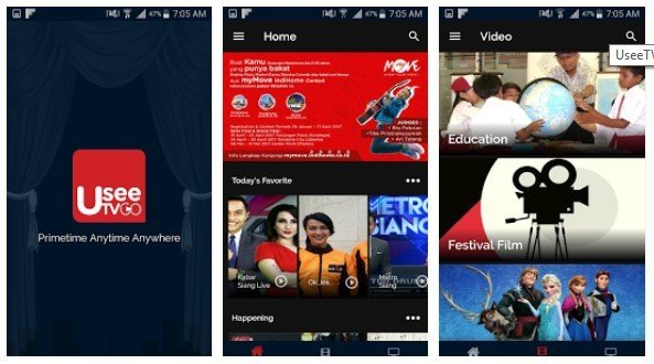 Aplikasi Streaming Bola Usee TV GO Android