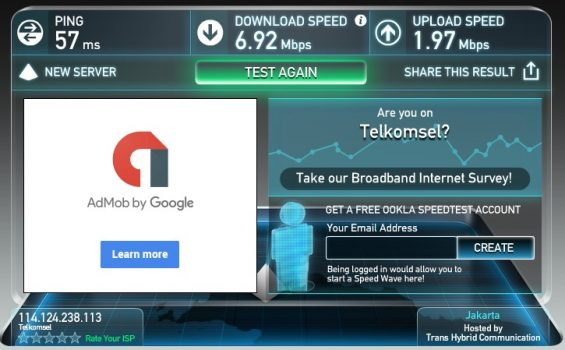 Hasil Speedtest