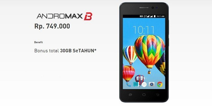 Harga Andromax B HP Android 4G Termurah