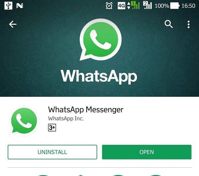 WhatsApp Google Play Store