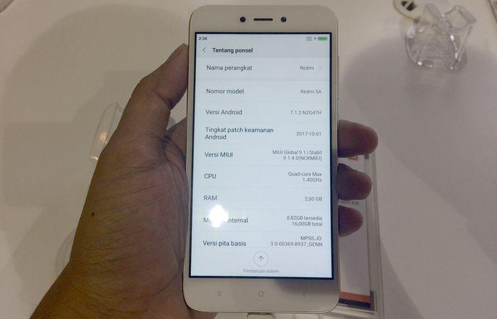 Xiaomi Redmi 5A Spec