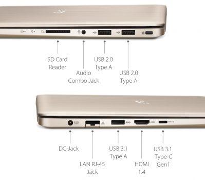 ASUS Vivobook Pro N580VD - Port Konektivitas