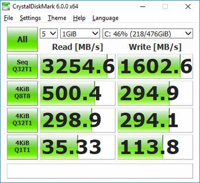 ASUS Zenbook Flip S Diskmark