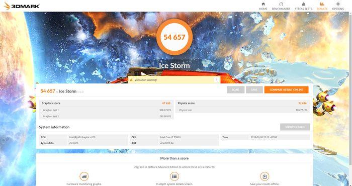 ASUS Zenbook Flip S Ice Storm 3DMark