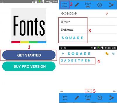 Cara menggunakan Cool Fonts for Instagram Bio