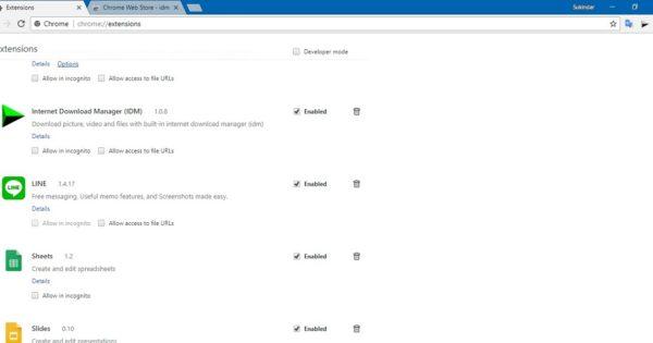 Cara Memasang Ekstensi IDM di Google Chrome Yang Tidak