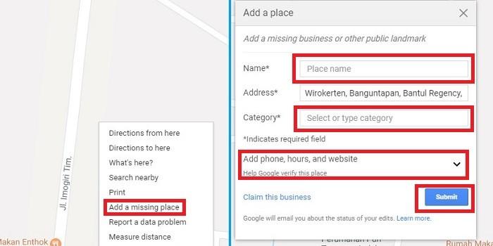 Cara Membuat Lokasi di Google Maps Melalui Browser
