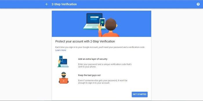 Verifikasi 2 langkah Gmail