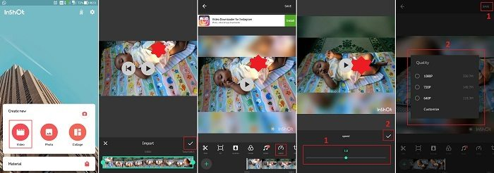 Mempercepat Video Instagram
