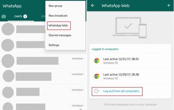 Cara Menghilangkan Sadapan Whatsapp Dengan Log Out WhatsApp Web