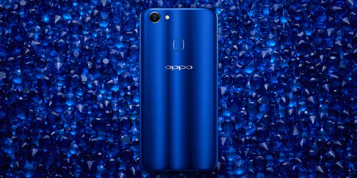 OPPO F5 Dashing Blue Crystal