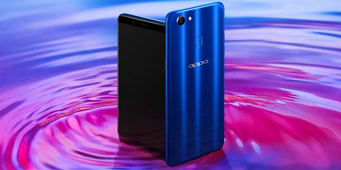 OPPO F5 Dashing Blue Header