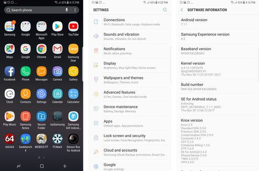 Samsung Note 8 OS