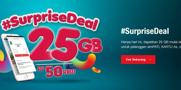 Surprise Deal Telkomsel 25GB Header