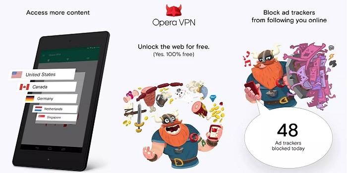 VPN App iOS Android - Opera VPN