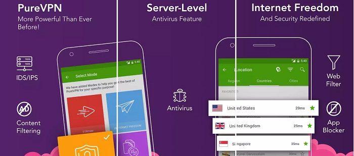 VPN App iOS Android - PureVPN