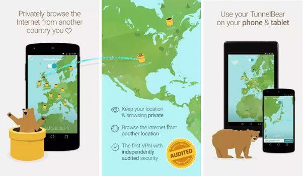 VPN App iOS Android - TunnelBear VPN