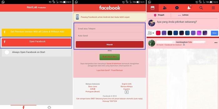 Aplikasi Facebook Lite Berwarna