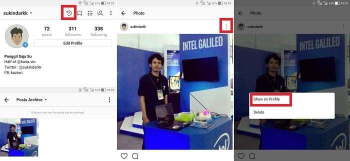 Cara Mengembalikan Postingan Yang Diarsipkan di Instagram