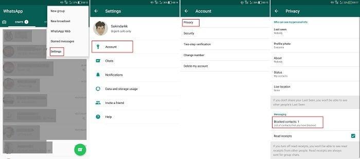Cara Menampilkan Nama Kontak Yang Hilang di WhatsApp - Unblock Contact