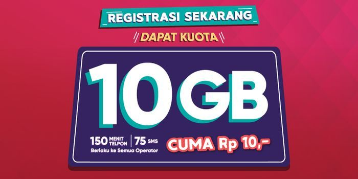 Kuota 10GB Registrasi Ulang Telkomsel Header