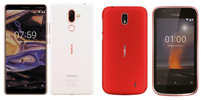 Nokia 7 Plus dan Nokia 1