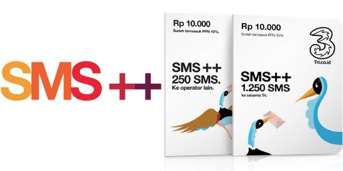Paket SMS Tri 3 Header