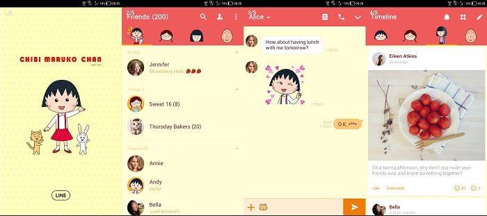 Tema LINE Anime - Chibi Maruko Chan