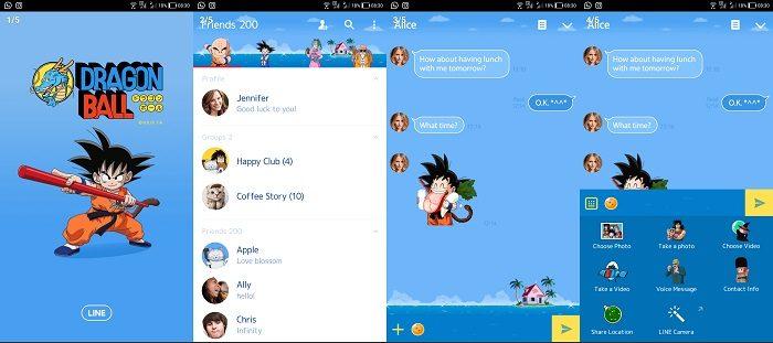 Tema LINE Anime - Dragon Ball
