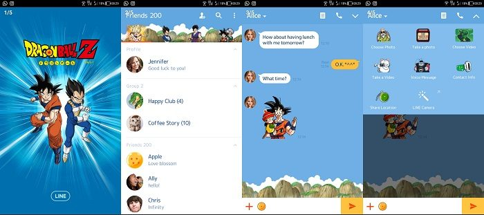 Tema LINE Anime - Dragon Ball Z