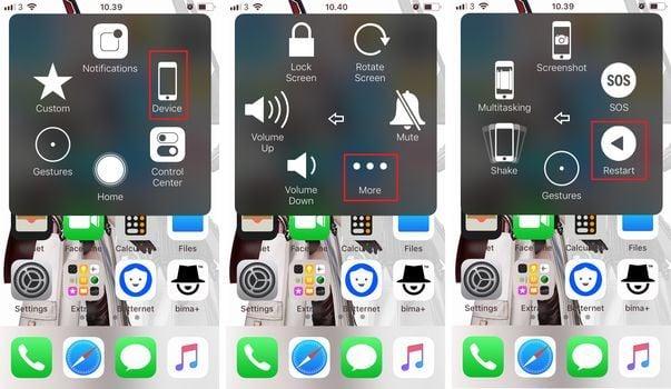 iOS AssistiveTouch Restart