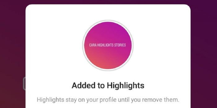 Cara Membuat highlight di Instagram story Header