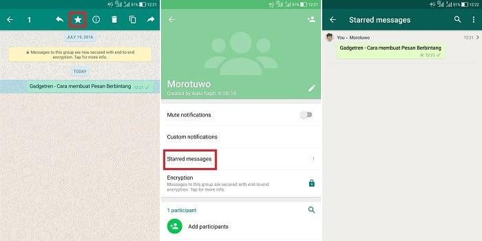 Fitur Rahasia WhatsApp - Pesan Berbintang