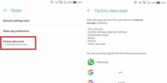 Cara Mengatasi Perbarui Google Play Store Ke Versi Terbaru - Factory Reset