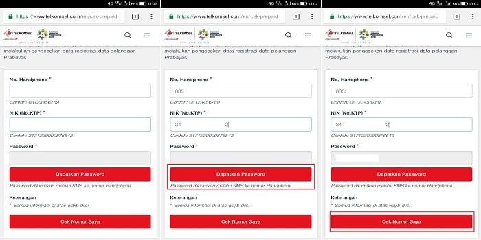 Cara Mengecek Registrasi NIK di Layanan Telkomsel Melalui Web