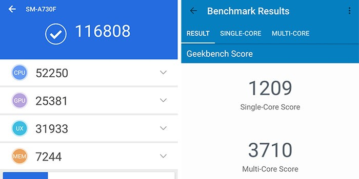 Galaxy A8 Plus - Benchmark