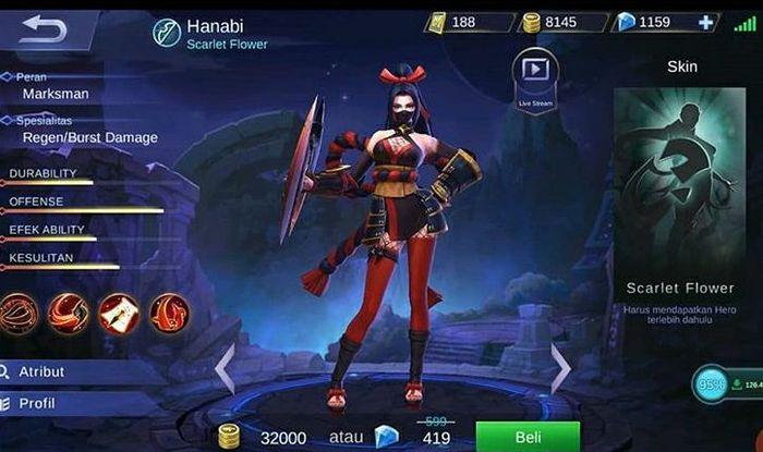 Hanabi Mobile Legend Hero
