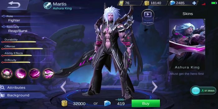 Martis Hero Mobile Legend Header