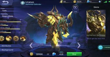Uranus Mobile Legend Featured