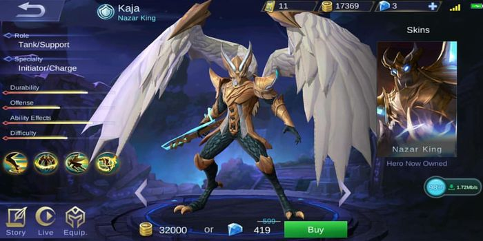 Kaja Mobile Legends Header