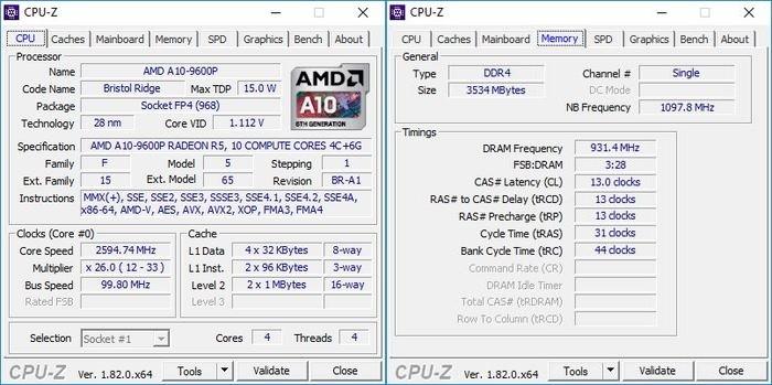 X555QG CPU-Z